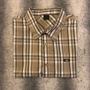 😎 Oakley Short Sleeve Casual Button Down Men's XL